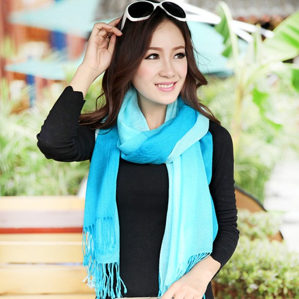 2014 New Arrival Warm Scarf Splicing Color Wool Blend Pendant Scarfs Fashion Style Winter Autumn Pashmina Scarves b4(China (Mainland))