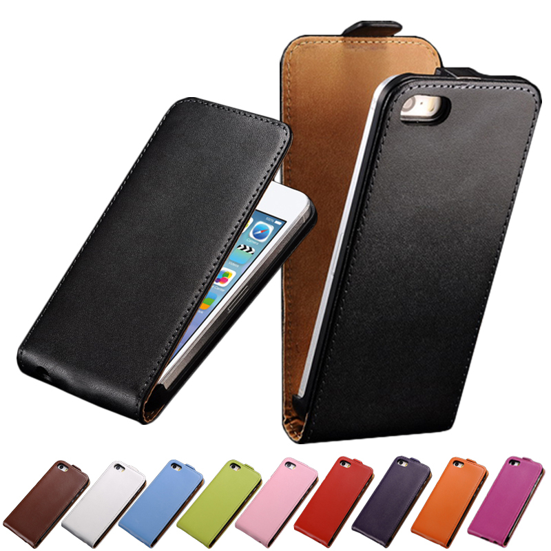 Genuine Leather Case For iPhone 5 Flip Style Phone Case For iPhone 5s Cover Case Top Quality Business Style Phone Shell(China (Mainland))