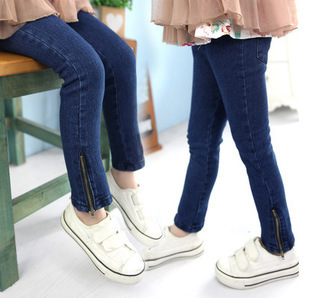 2015 Children's clothing autumn spring kids jeans child baby skinny pants boys jeans pencil pants meninas girls jeans