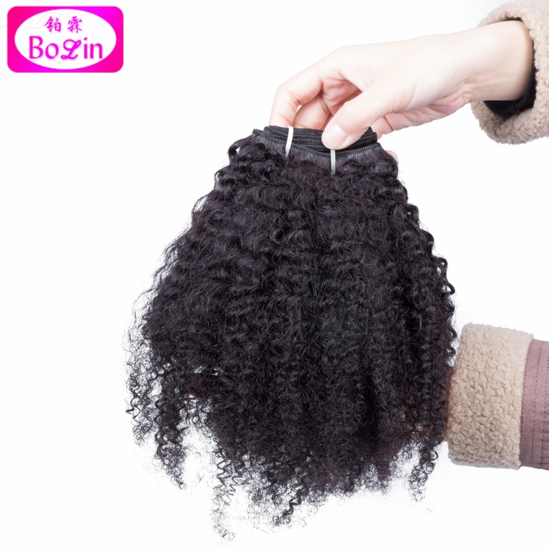 3 Pcs Indian Curly Virgin Hair 6A Unprocessed Tight Curls Weave Bundles Afro Kinky Curly Hair Bulk Indian Afro Curl Weave 8-28″