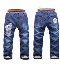 Boys/Girls Warm Children Pants  Kids Thick Winter pants Trousers big boys jeans brand kids boys jeans 2015(China (Mainland))