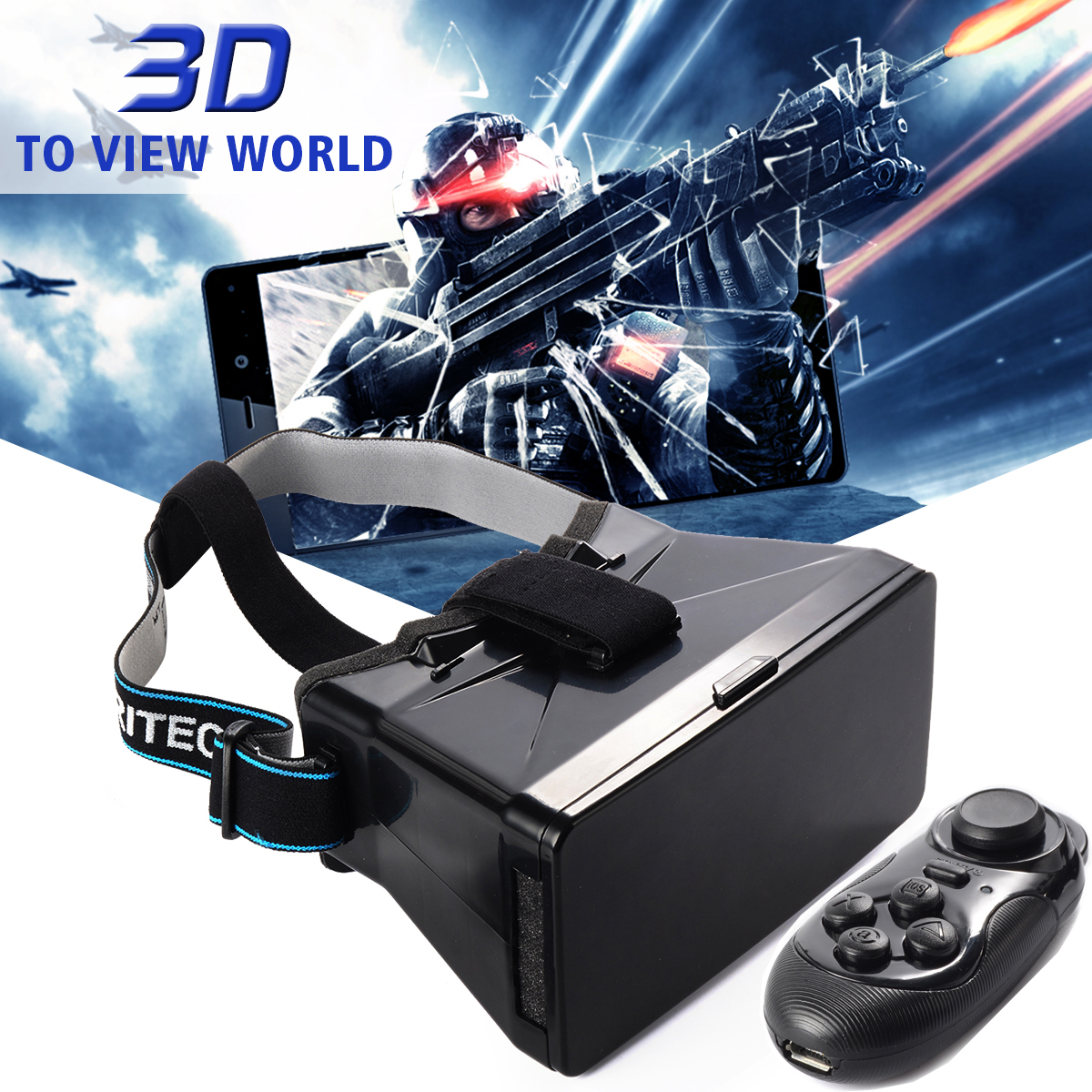 Head Mount 3D VR Box Virtual Reality Glasses for 3D Movies Games 3 5 5 5