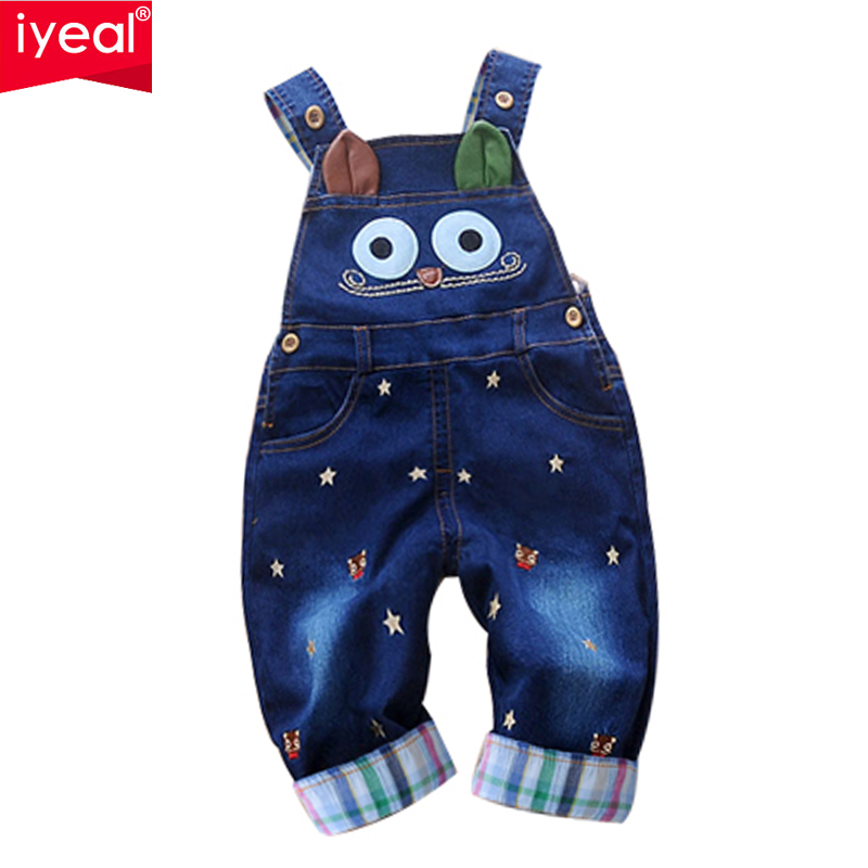 Brand 2016 Autumn Baby Rompers Animal Baby Boy Girl Jeans Jumpsuit High Quality Denim Overalls Infant Clothing Baby Clothes 0-2Y(China (Mainland))
