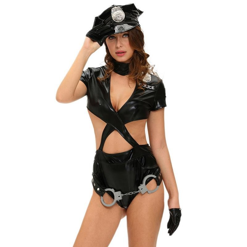New 6 Piece Sexy Ladies Police Halloween Costume 8975 Sexy Fancy Outfit Adult Woman Cosplay Sexy Police Costumes Erotic Lingerie