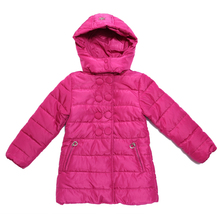 Girls Long Jacket Down Coat Hoodie Sweet Brand Quality Size 11 12 13 14 NWT