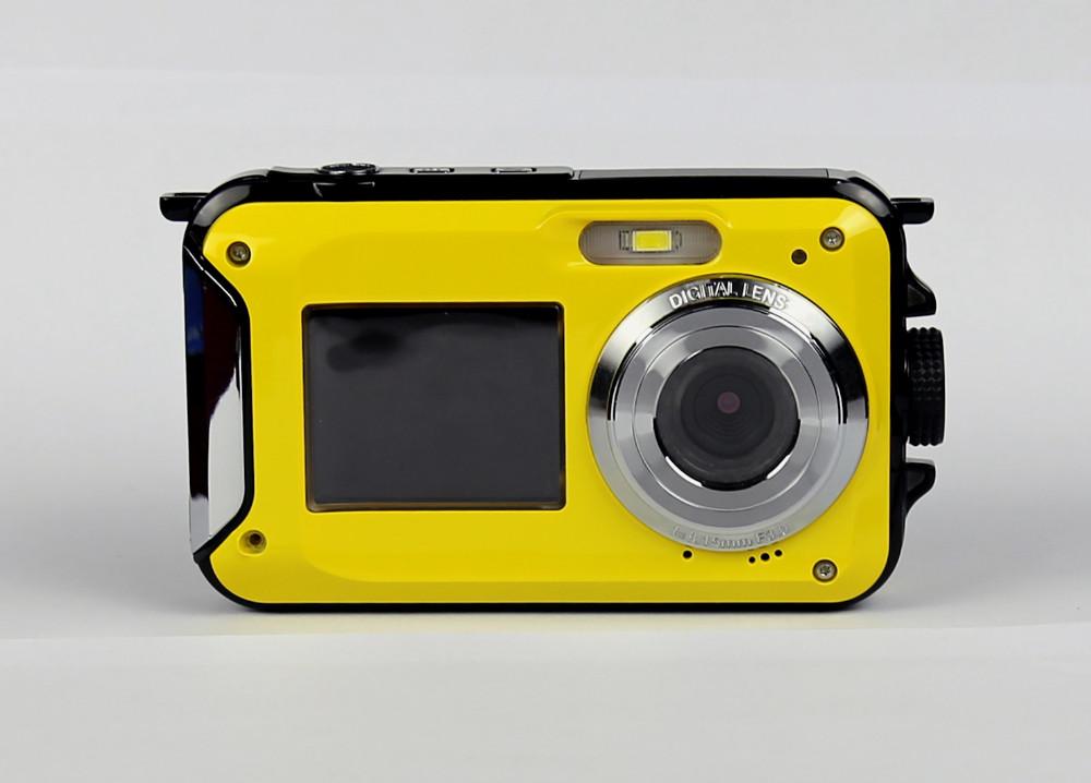ถูก กล้องดิจิตอลกันน้ำ5เมตร16Xซูมใต้น้ำกันกระแทกแคมHD 2.7นิ้วจอแอลซีดีCMOSกล้องกันน้ำDCคู่หน้าจอกล้อง