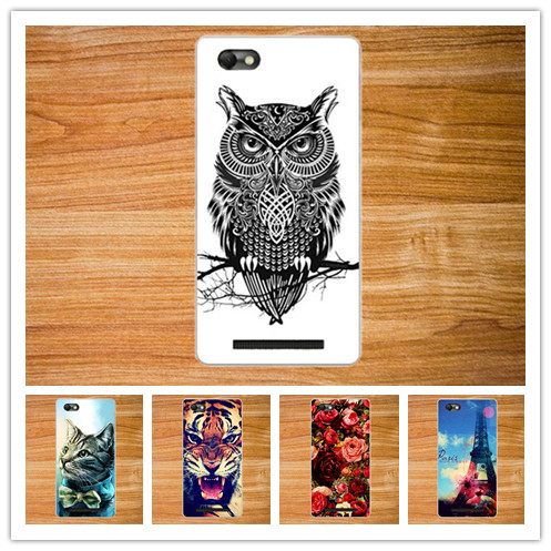 For Lenovo Vibe C / A2020 cover case, High Quality Beautiful Flower Cute Animal Eiffel Tower Design case For lenovo a2020 cover(China (Mainland))