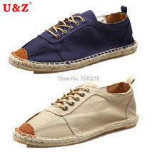 Cool yet breathable Linen casual vintage canvas shoes big size Eu45 Blue/Beige,2017 Trend Male Eu45 durable sole driving shoes(China (Mainland))