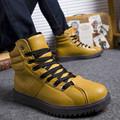 Autumn Winter Men Boots Fashion High Help Martin Boots 3 Colors Plus Cotton warm Boots Casual