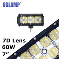 Oslamp 60W 7 Cree Chips Spot LED Work Light Bar with Daytime Running Light Offroad Driving