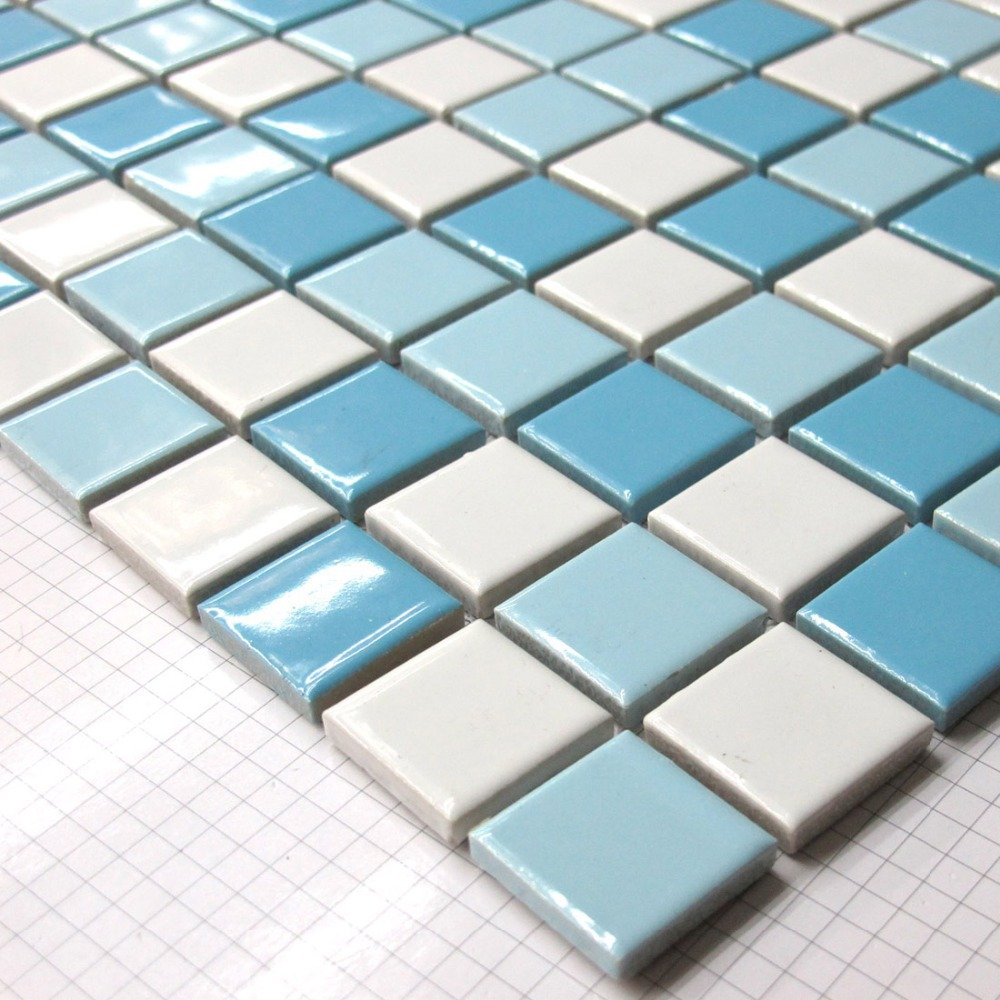 Buy Swimming Pool Tiles Ceramic Mosaics White Blue Backsplash Tile Bathroom