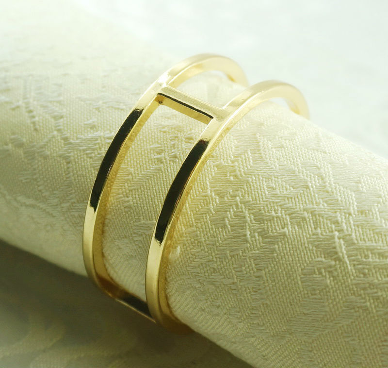 round gold metal napkin ring napkin holder for wedding 24 pcs in napkin rings from home. Black Bedroom Furniture Sets. Home Design Ideas