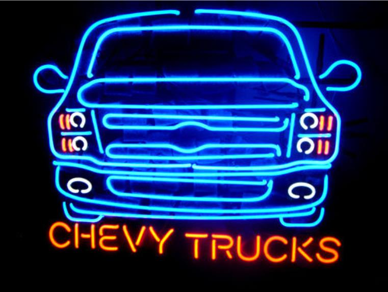 """NEON SIGN For New American automobile Chevy Trucks Signboard REAL GLASS BEER BAR PUB display Shop Custom Light Signs 20*24""""(China (Mainland))"""
