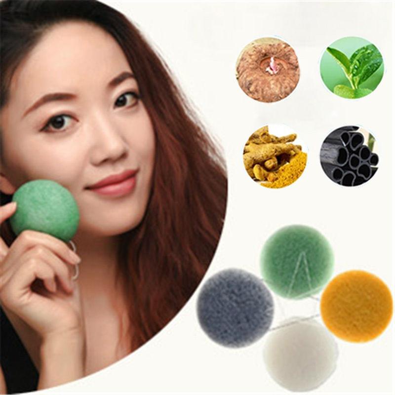 1 PCS Natural Konjac Konnyaku Jelly Fiber Face Deep Cleaning Wash Pad Sponge Makeup Remover Puff Exfoliator(China (Mainland))