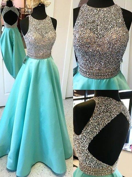 Мода роскошный голубой длинное вечернее платье 2016 o шеи o шеи полый атласа женщины театрализованное платье для формальных выпускного вечера партия