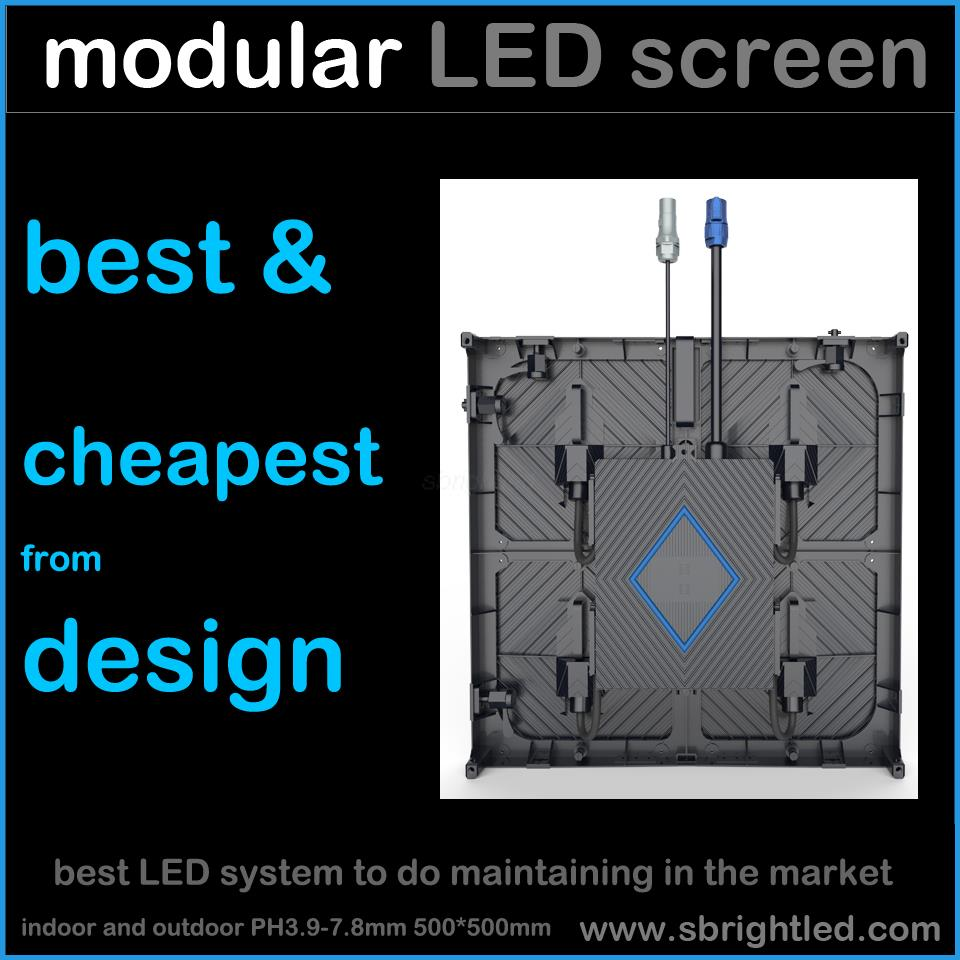 cheapest LED display video screen moduarized 500*500mm P3.9mm rental fixed outdoor indoor led system wall full color module tilt(China (Mainland))