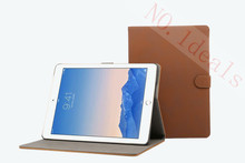 New Hot business Case For apple ipad air 2 Retro Matte PU Leathe Smart Stand Holder Cover For ipad 6(China (Mainland))