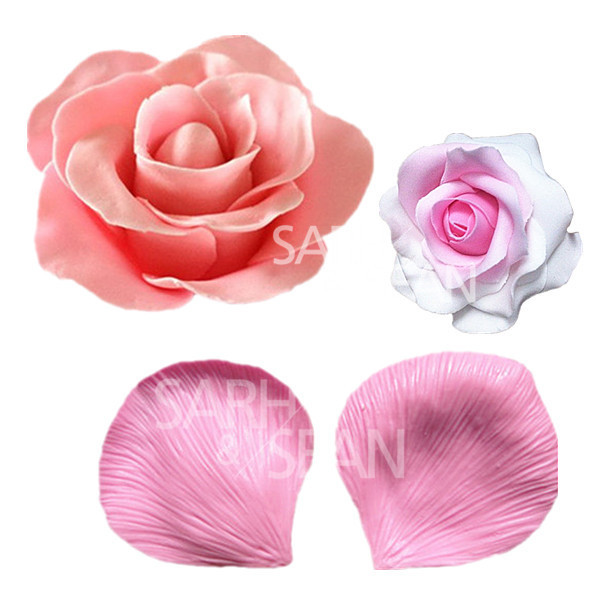 JM021 Big ROSE flower petals fondant cake molds Fondant ...