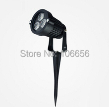 high brightness 38mil 330lm waterproof 3w led spike garden light lamp(China (Mainland))