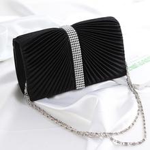 2016 Brand Design Popular Satin Crystal Diamante Wedding Ladies Party Prom Evening Clutch Bag Handbag Gift Free Shipping N793(China (Mainland))