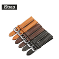 iStrap leather watch strap Genuine leather watch Men Women band with Silver Pin buckle For IWC