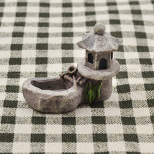 She Love Pond Figurines Decoration Tower Relaxation Zen Garden Tea Pet Home Miniature Resin Craft(China)