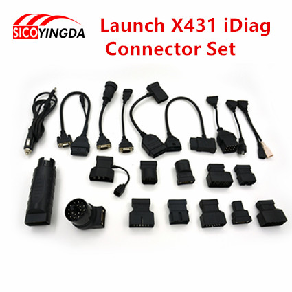 2016 Original Launch X431 iDiag Connector Set Package X-431 Diagun iii yellow box with DHL Free shipping(China (Mainland))