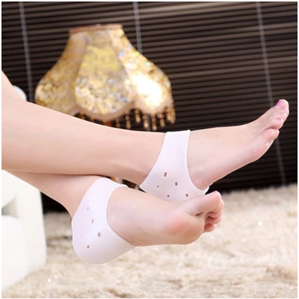Foot Care Heel Protector sleeve unisex Silicone moisturizing heel sock cracked Skin pain relieve pedicure Insoles moisture 2pcs(China (Mainland))