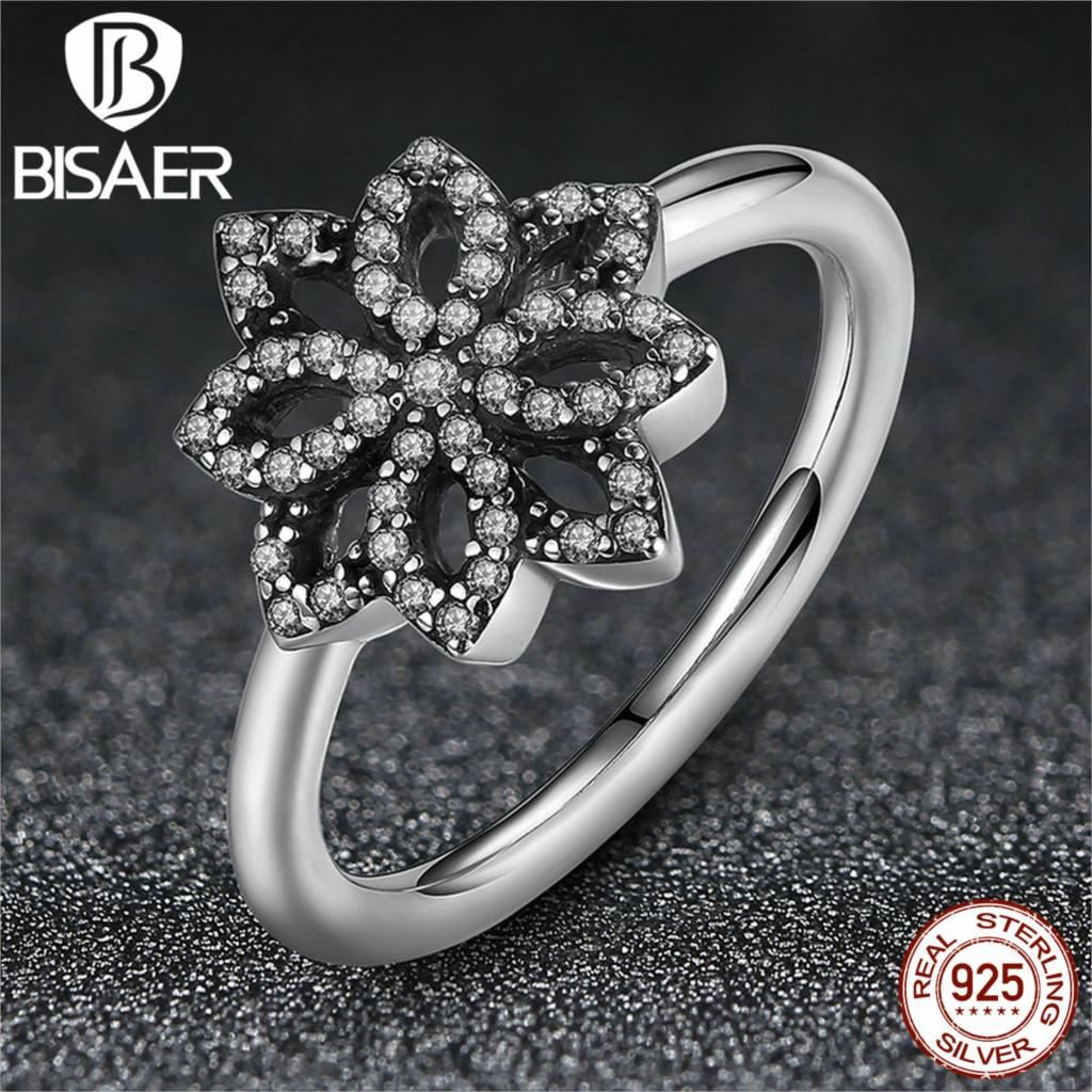 BISAER 2016 New Clear CZ 925 Sterling Silver Rings For Women Fashion Jewelry Ring Female Wedding Rings Band Party Wholesale(China (Mainland))