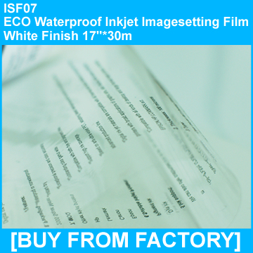 "ECO Waterproof Inkjet Film Clarity Finish 17""*30m"