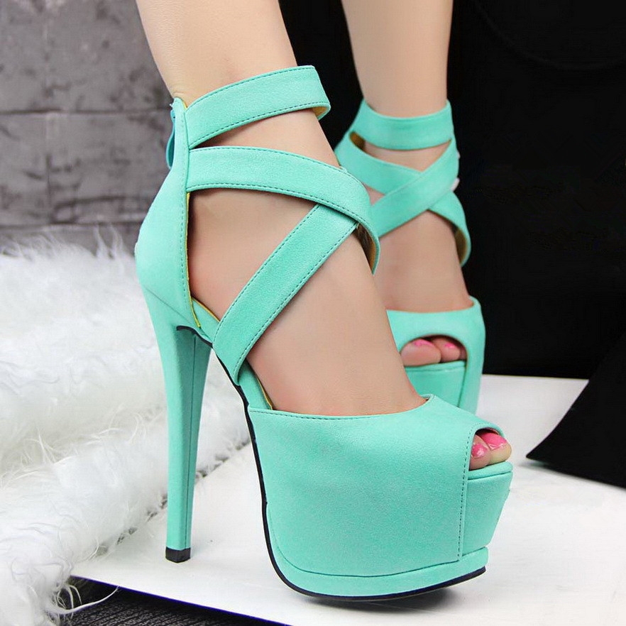 Creative 2015 New Brand Women Shoes High Heels Ladies Pumps Sexy Fashion