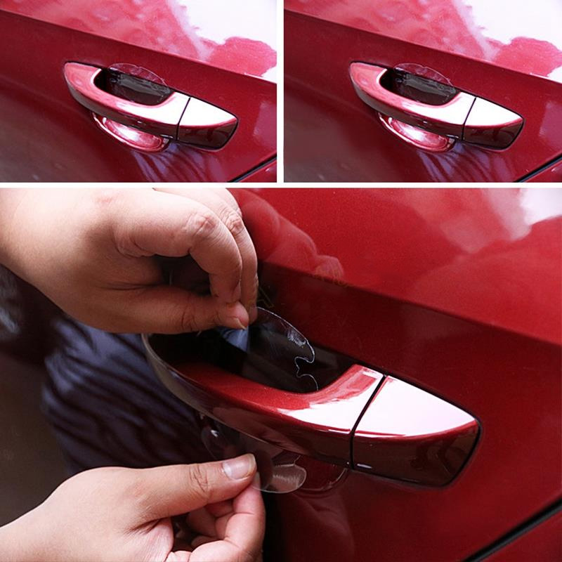 4Pcs/LOT Car Styling Stickers Car Handle Protection Film Pen Scratch Protector Car Exterior Car Accessories <br><br>Aliexpress