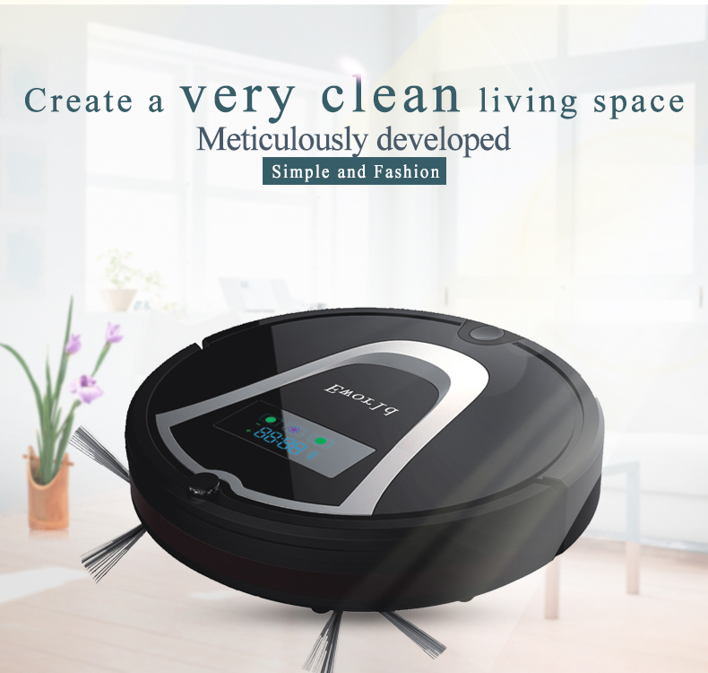 Eworld M884 Newest Robot Vacuum Cleaners for Home,Vacuum Cleaning with Remote Controler,Cleaning Brush(China (Mainland))