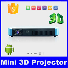 Top selling 1200lumens Smart HD 1080P multimedia Mirco projector Osram RGB 3LED lamp mini android 4.4 wifi RJ45 DLP proyector(China (Mainland))