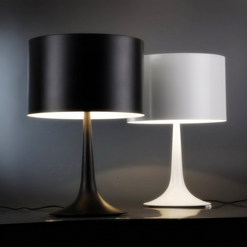 table lamp 610mm 390mm 5w black white modern lampshade living room