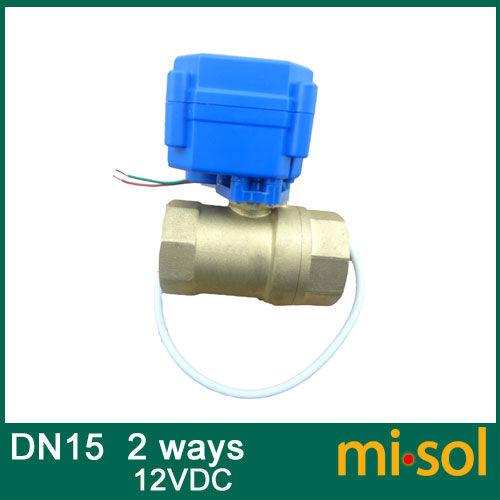 Free shipping 1pcs motorized ball valve DN15, 2 way, electrical valve(China (Mainland))