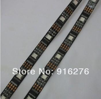 1M WS2801 2801 Black PCB Dream Color 5050 RGB LED Strip tape light Individually addressable 32LEDs DC 5V free shipping(China (Mainland))