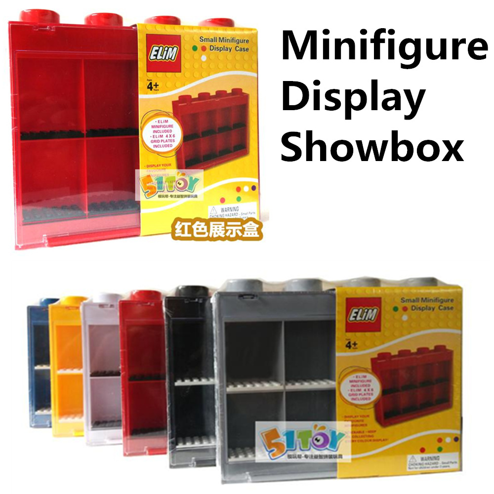 Acrylic Small Minifigures Display Case Plastic Show Box Building Blocks Sets Model miniFiguresToys For Children Lego Compatible(China (Mainland))