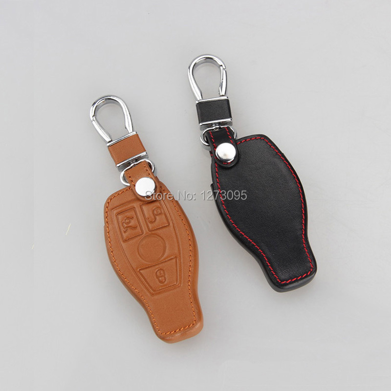 Fits for mercedes car keychain genuine leather car key for Mercedes benz key chain accessories