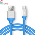 CinkeyPro Micro USB Cable Colorful Aluminum 1M Smart Phone Universal Cables Data Charger For Samsung XiaoMi