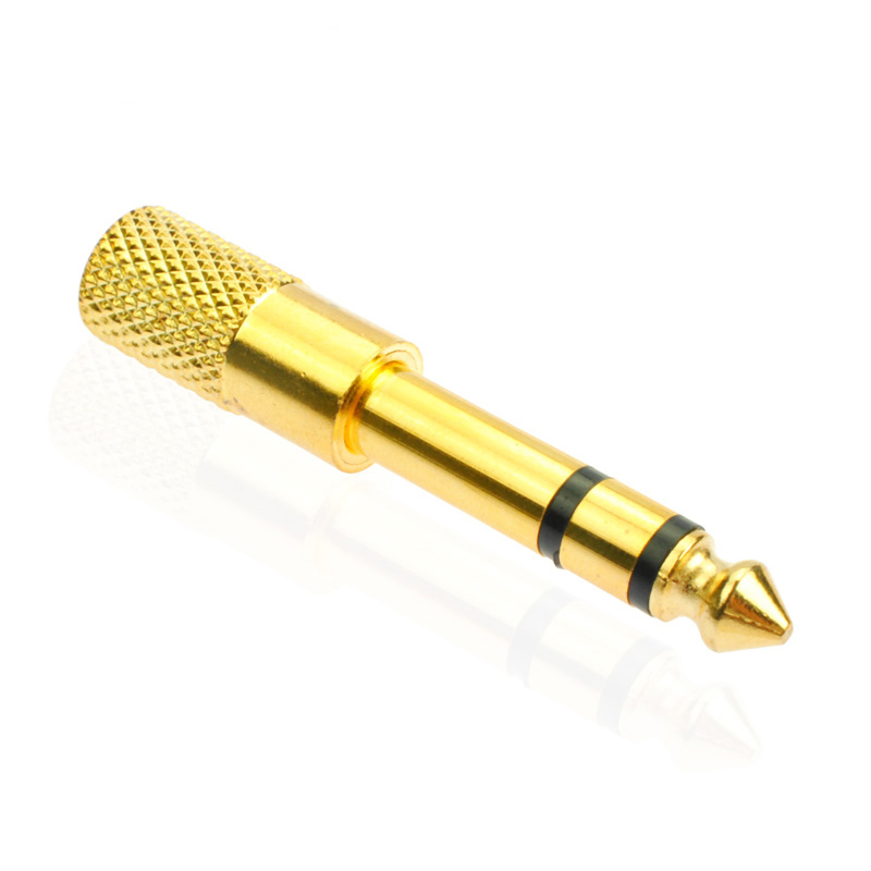 """New 1pc Gold plated 6.35mm 1/4""""Male plug to 3.5mm 1/8""""Female Jack Stereo Headphone Audio Adapter ,TRS 6.35 to 3.5 converter(China (Mainland))"""