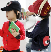 Special Offer 2014 autumn and winter children's new arrival eyes pattern boys girls baby fleece cardigan kid's sweater coats(China (Mainland))