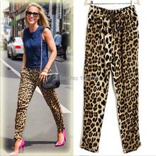 Fashion Casual Loose Fit Leopard Print Women Harem Pants Lady Trousers Plus Size S M L XL XXL 2014