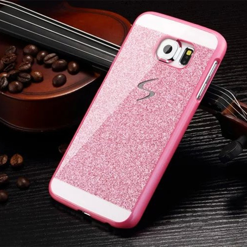 Hard Flash Plastic Cover Diamond Bling Crystal Capa Fundas Case For Samsung Galaxy S6 / S6 Edge/S6 Edge + Plus / S5 / S4 / S3(China (Mainland))