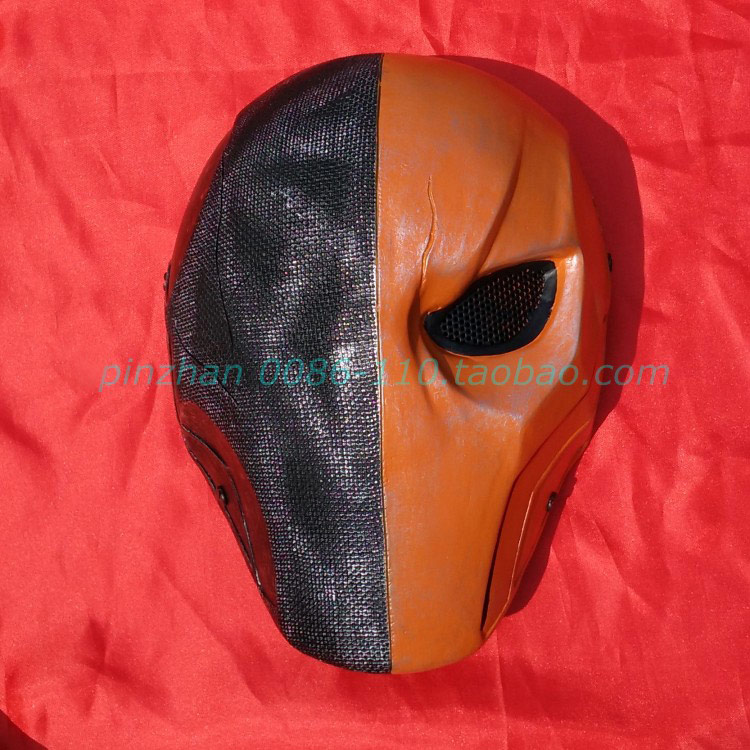 The Arrow super villain Deathstroke Slade Wilson resin Mask Halloween party cosplay collection Bar accessories orange Masks(China (Mainland))