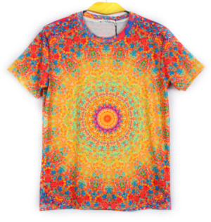 Orange Golden Floral Colorful Dots 3d Print Space Vision Women Men Summer T Shirts Street Bright Tshirt For Wholesale Cool Tees(China (Mainland))