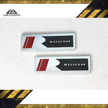Auto car Silver Roush R Mustang GT v6 v8 Fender Emblem Badge Sticker - DI LAI FEI Co.,Ltd Store store