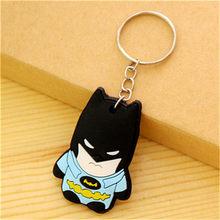 المنتقمون المفاتيح بيكاتشو الرجل العنكبوت باتمان مفتاح حلقة انمي ياباني حامل Chaveiro سلسلة مفاتيح حقيبة مجوهرات سحر(China)