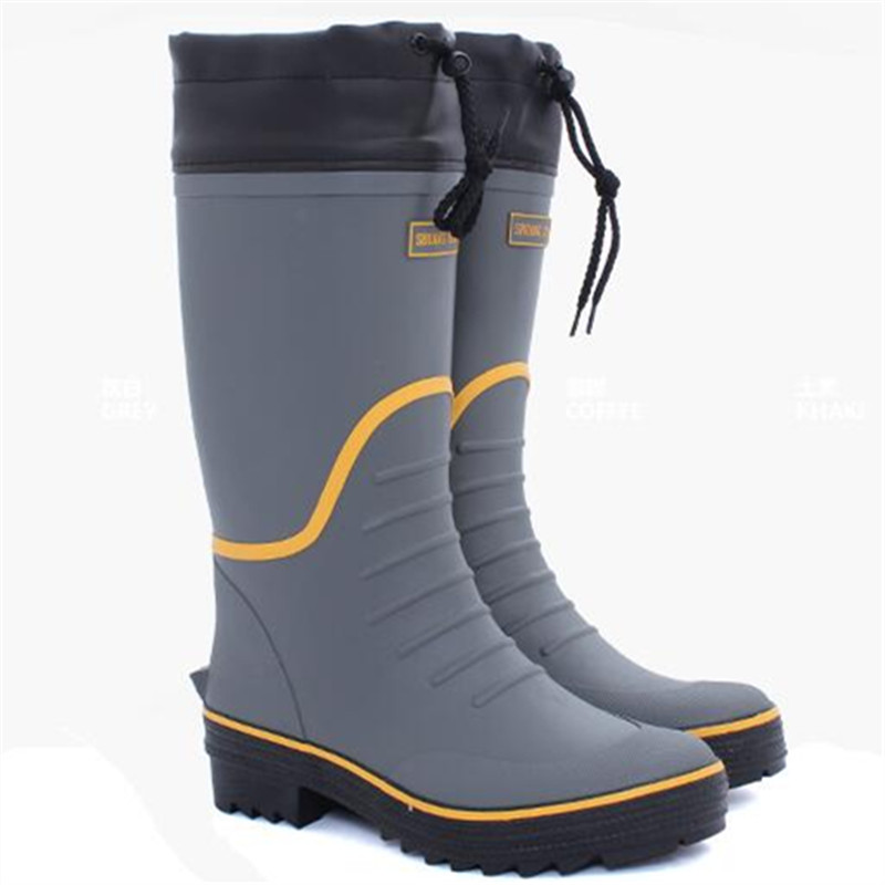 Spring rubber men 39 s water flat rain boots fishing for Rubber fishing boots