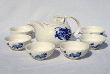7pcs Deluxe Tea Set, Porrtery Teaset,Peony,A3TQ03, Free Shipping